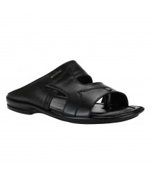 Cefiro Black Slipper for Men - CSP0003